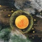 たまごボーロのような月